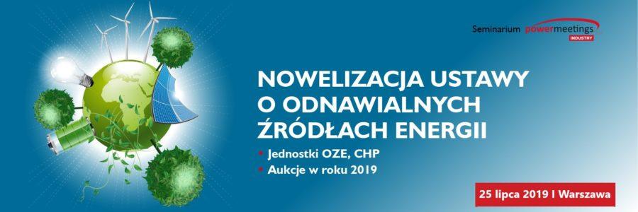 Nowelizacja Ustawy o OZE logo