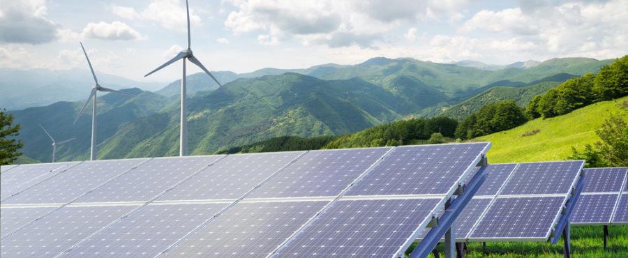 farma solarna i elektrownia wiatrowa