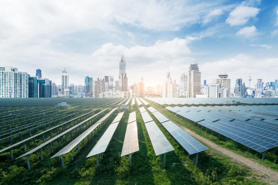 panele słoneczne - farma solarna