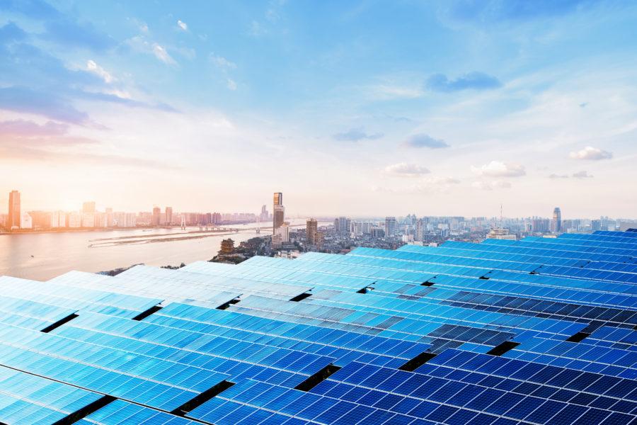 farma solarna - panele słoneczne